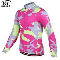KIDITOKT 2020 Pro Winter Langarm Warm Radfahren Jersey Thermische Fleece Fahrrad Radfahren Kleidung MTB Bike Radfahren Kleidung-in Rad-Trikots aus Sport und Unterhaltung bei