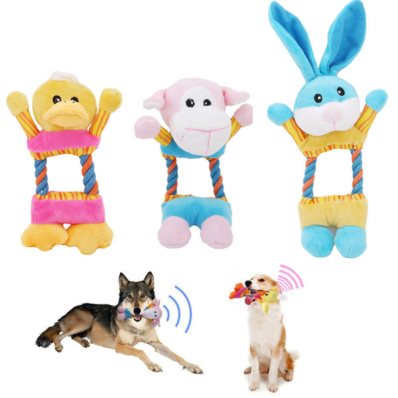Home & Garden New Funny Dog Toys Interactive Pet Plush Toys Pet Puppy Chew Sound Squeaker Toy For Dogs Animal Shape Resistance To Bite Moderate Cost Dog Toys
