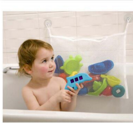 Toy Storage B ag Folding Organizer Eco-Friendly Baby Bathroom Mesh B ag Child Bath Net B ag Suction Cup Baskets Organizer B ags