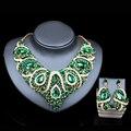 Lan дворец последние африканские бусы для свадьбы позолоченные красный ювелирные наборы ожерелье и серьги шесть цветов бесплатная доставка