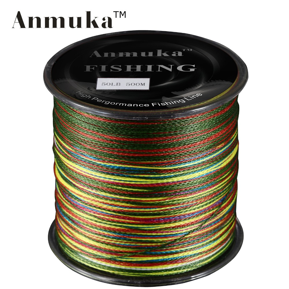 Anmuka 500m anmuka brand super series japan multifilament for Bulk braided fishing line