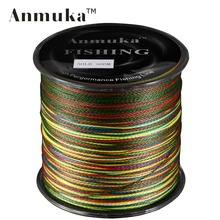 Anmuka 500M Anmuka Brand Super Series Japan Multifilament PE Braided Fishing Line 4 Strands Braid Wires 8 LB –  100LB