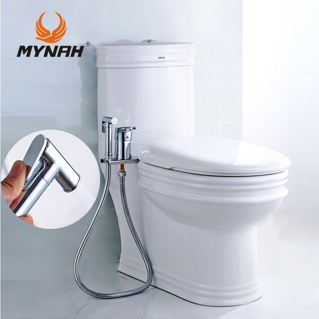 mynah bidet sproeier wc handheld douche bidet bad. Black Bedroom Furniture Sets. Home Design Ideas