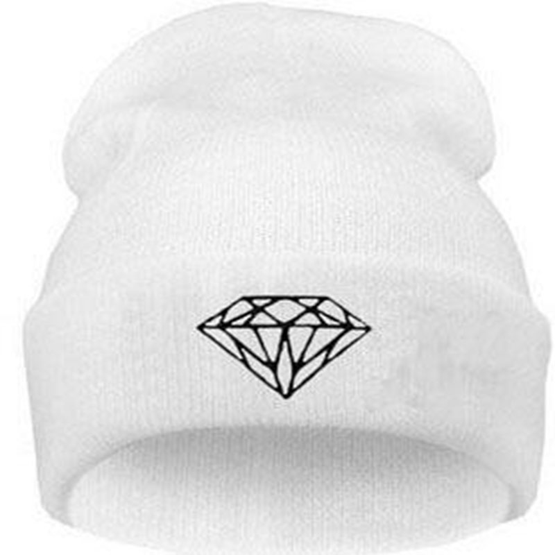 Hot Sale Personality diamond Pattern hip-hop Hat , knitting wool Spring Autumn Winter Multi Colors Beanie hats For women and men rwby letter hot sale wool beanie female winter hat men