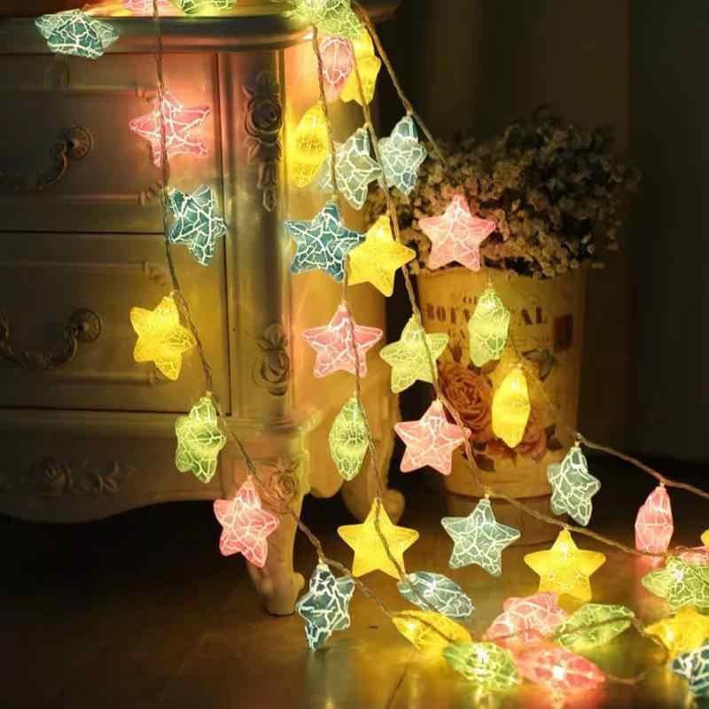 3 м 20LED Star Light String Свадебная вечеринка свет шнура гирляндой гирлянды теплый белый Красочные Главная DIY Применение