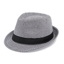5d9e8d5bf52f4 2018 Promotion Unisex Linen Adult Fedora Chapeau Mariage Felt Hats Spring  New Men s Small Hat Houndstooth Wholesale Custom Jazz