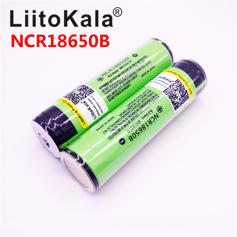 LiitoKala Rechargebale battery 18650 3400mAh real capacity battery 3 7V Li ion PCB Protected For NCR18650B 18650 3400mah in Rechargeable Batteries from Consumer Electronics