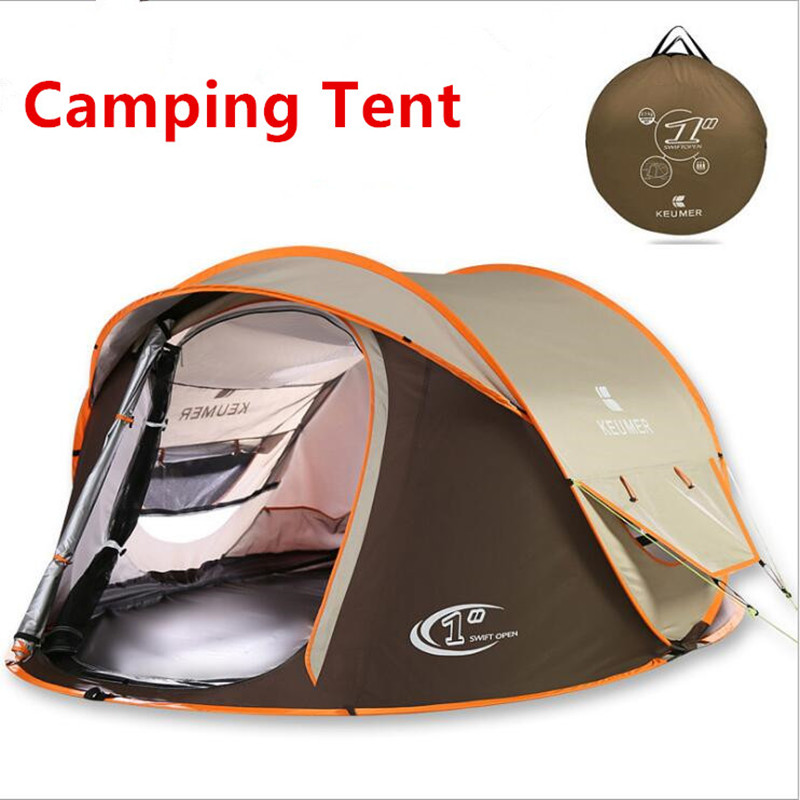 3-4 Person 240*180*110cm Double Layer Waterproof Windproof Large Camping Tents Automatic Tents Climbing Hiking Tent Hot 2017 New otomatik çadır