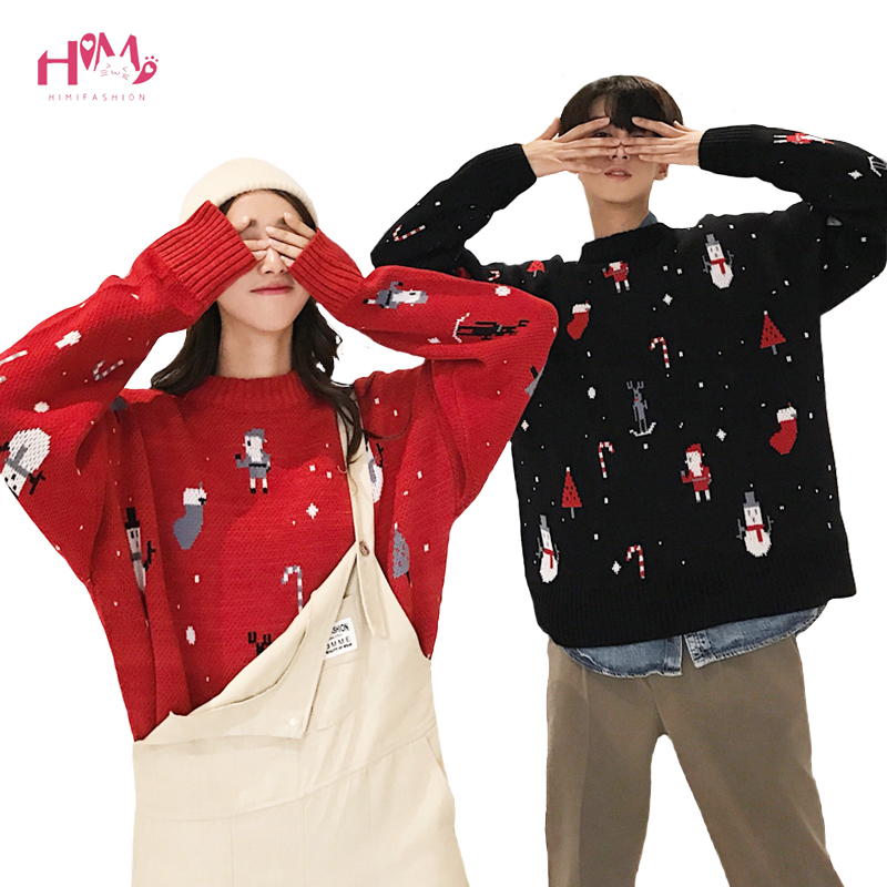 95d71148ea Ugly Christmas Sweater Women Men Winter Plus Size Kawaii Couple Cloth  Pullover Long Sleeve Cute Anime