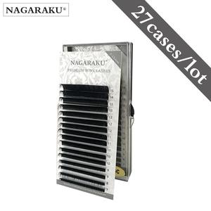 Image 1 - NAGARAKU Mink Lashes Makeup Maquiagem 27 Cases lot 7 15mm Mix Individual Eyelash High Quality Natural Soft Synthetic Mink