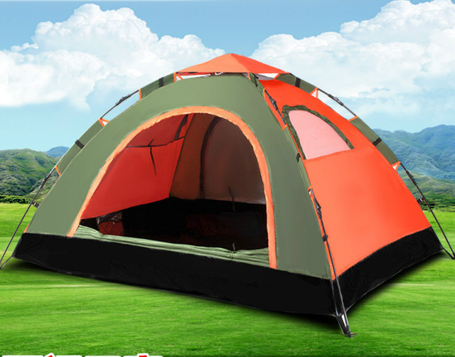 Top Brand Quality Double Layer 2 Person Rainproof automatic Ourdoor Camping Tent for Hiking Fishing Hunting Adventure Picnic