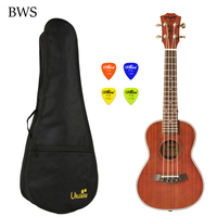 BWS 23 inch Ukelele Hawaii guitar 4 string Wooden for Ukulele Concert with Bag sets Mini Guitar Ukulele Electric UK2322A