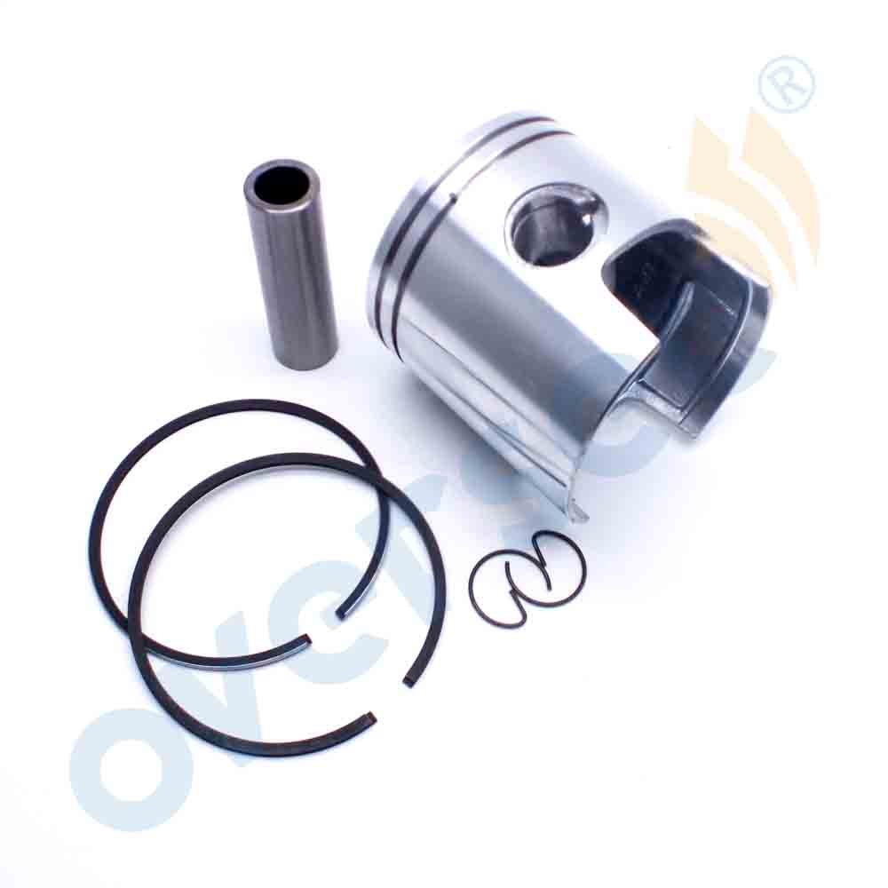 6F6-11631 Piston & Ring STD For Yamaha 2t Outboard Motor Parts 40HP 40G 40J 78mm With Clip And Pin 6F6-11631-00 6F5-11610-00