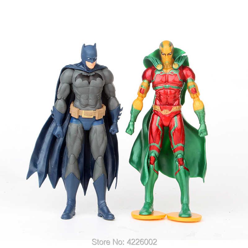 6 dc dc dc comics batman verde seta pvc figuras de ação super-heróis senhor milagre móvel joint figurinhas bonecas crianças brinquedos para crianças