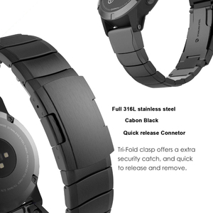 Image 5 - 20mm 22mm Metal Stainless Steel Strap for Samsung Watch Active Gear S3 S2 Classic bands for huami Amazfit GTR Bip huawei GT Band