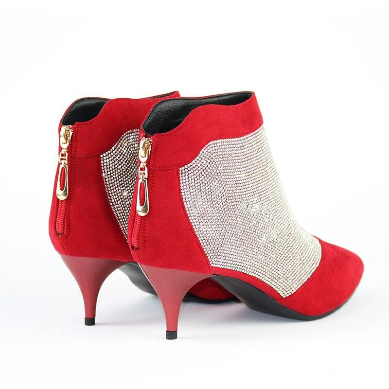 Zapatos de mujer de invierno Botines Tacones altos Marca Rhinestone - Zapatos de mujer - foto 4