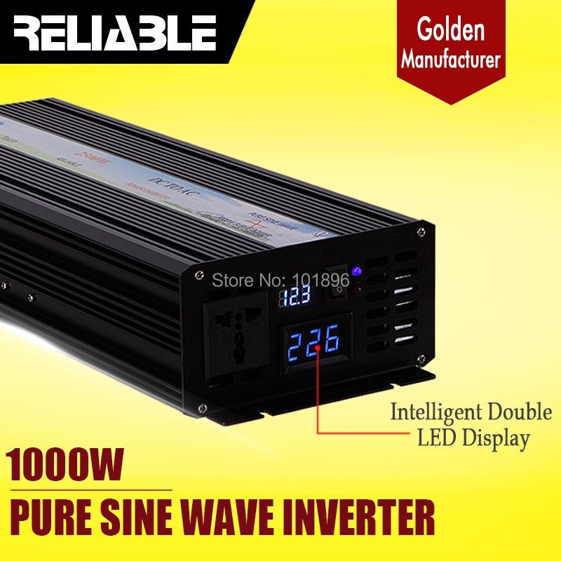 Digital LED Display 1000W 12v/24v/48vdc to 110v/220vac Pure Sine Wave DC TO AC Inverter Converter Home Power Supply Generator home furnishings digital display time relay h5cn xzn spot new 220 vac 24 vdc