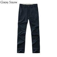 Gsou Snow 2017 outdoor sportwear hiking pants men pantaloni trekking pants trousers cargo pant pantalones trekking hombre