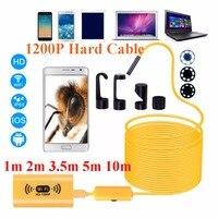 1200P HD Adjustable 8 LEDs WiFi Endoscope Camera 8 0mm IP68 Hard Cable 1M 2M 3
