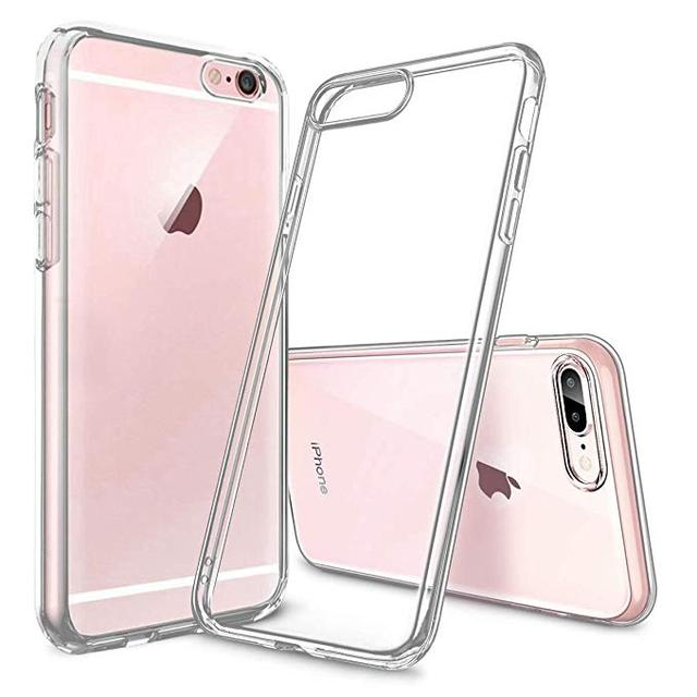For iPhone 6,6S Case,for Apple iPhone 7,8,X Clear Cover Soft TPU Gel Shock-Absorption Bumper, Transparent Grip Protective Shell