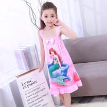 Новинка; WAVMIT; одежда для детей; летние платья; пижамы для маленьких девочек; хлопковая ночная рубашка принцессы; Детская домашняя одежда; одежда для сна для девочек