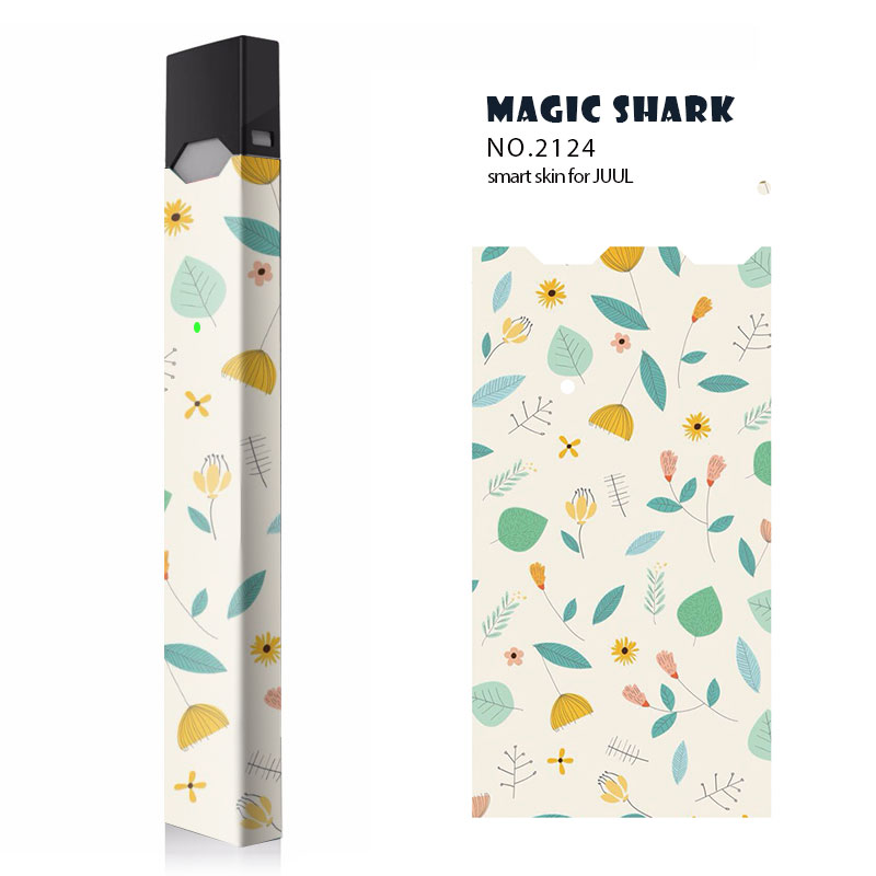 US $1 99 50% OFF|Magic Shark Flower Star England Style Tribe Me YOU Fashion  PVC Sticker for Juul Wrap Skin Case Ultra Thin Film for Juul-in Electronic