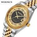 NUEVOS Hombres de Negocios Reloj Top Famosa Marca de Lujo de Oro Reloj de Los Hombres A Prueba de agua A Prueba de Golpes de Acero Lleno de Diamantes Relojes de Cuarzo Para Los Hombres