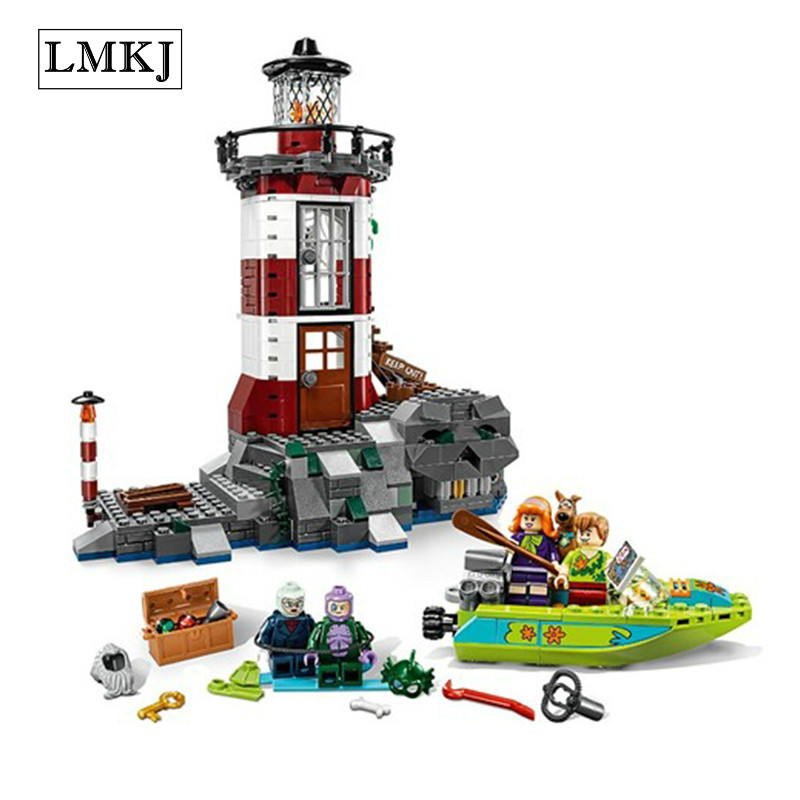 BELA 10431 Scooby Doo Haunted Lighthouse Building Block Bricks Educational Toys Compatible with Legoingly75903 for Children bela scooby doo haunted lighthouse building block model kits scooby doo marvel toys compatible legoe