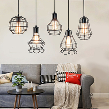 Creative Industrial wind Pendant Lamp Vintage Birdcage Personality E27 Pendant Light for Aisle Restaurant clothing shop Bar vintage ceiling lamp spot light industrial wind bar clothing personality probe to shoot the light track light absorb dome light