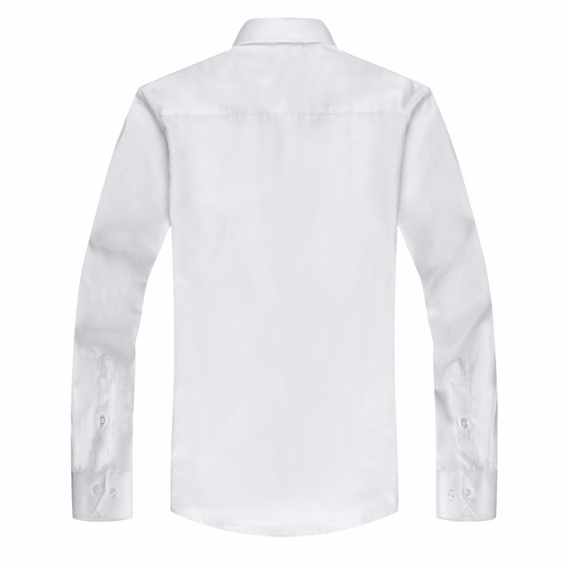 DAVYDAISY 2018 New Arrival Men Shirts 100% Polyester Fiber Shirt Male Business Work Shirt Long Sleeved Solid Formal Shirt DS196 2