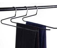 10pcs High quality Slacks Pant Hangers Non-slip trousers rack metal underwear towel scarf hangers Wardrobe clothing storage