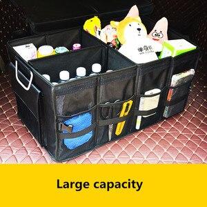 Image 3 - منظم صندوق السيارة العالمي أكسفورد SUV للطي أداة تنظيم حقيبة الطعام حقيبة تخزين السيارات القابلة للطي ملحقات غطاء الصندوق