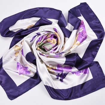 Silk Women Fashion Shawl Large Blanket Scarves Foulard Femme Hot Large Satin Square Silk Feeling Hair Scarf 90*90cm