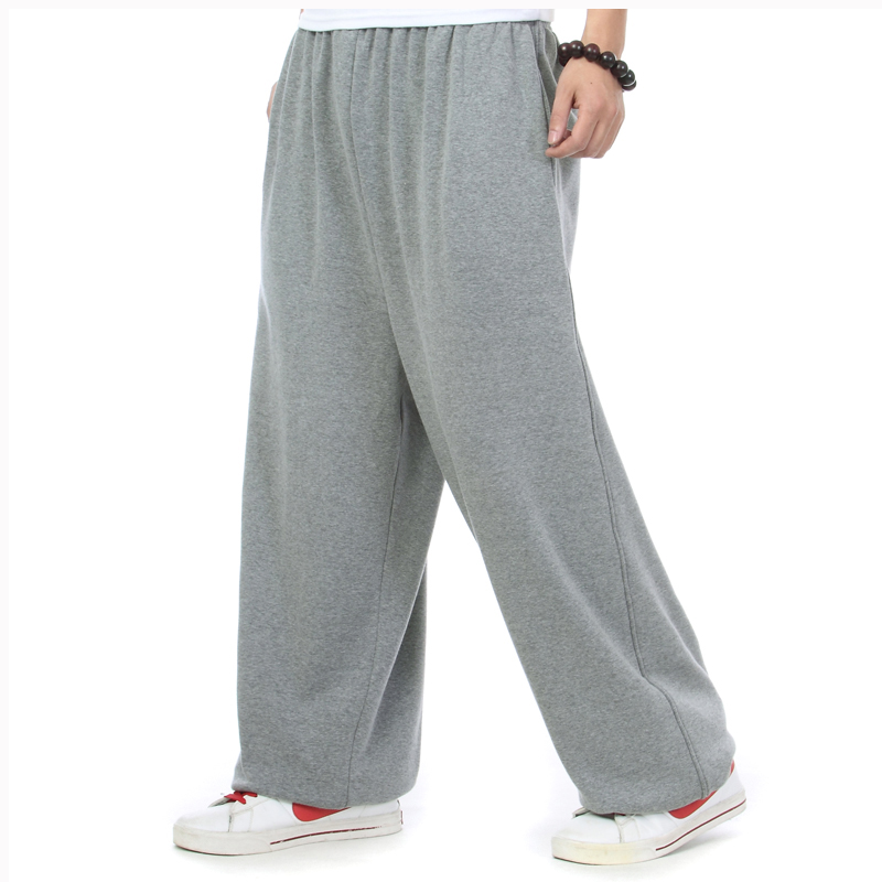 Autumn Winter Hip Hop Joggers Men Sweatpants Warm Fleece Loose Baggy Pants Harem Trousers Streetwear Plus Size Man Clothes image