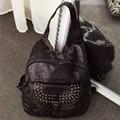 wholesale 2016 women backpack rivet leather backpack Preppy Style women bag