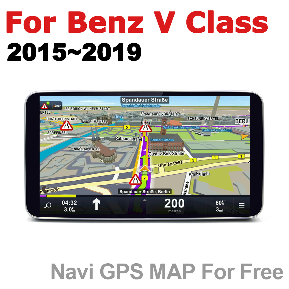 Car Radio 2 din GPS Android Navigation For Mercedes Benz V Class 2015 2019 NTG AUX Stereo multimedia touch screen original style in Car Multimedia Player from Automobiles Motorcycles