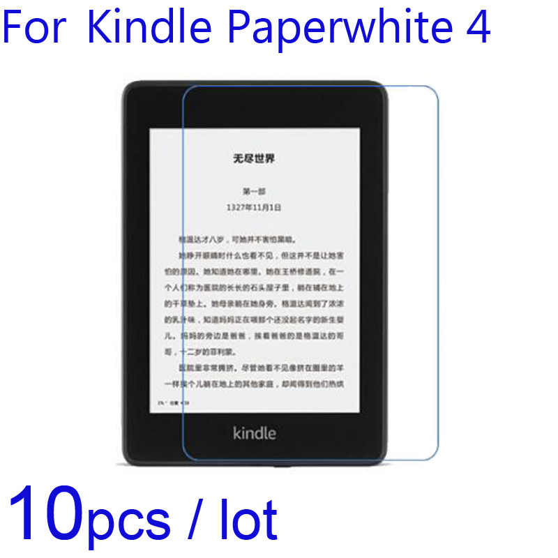 10 pcs HD-Clear/Anti-Glare Matte/Nano Anti-explosão Films Guarda para Amazon Kindle paperwhite 4 1 2 3 KPW4 2018 Protetores De Tela