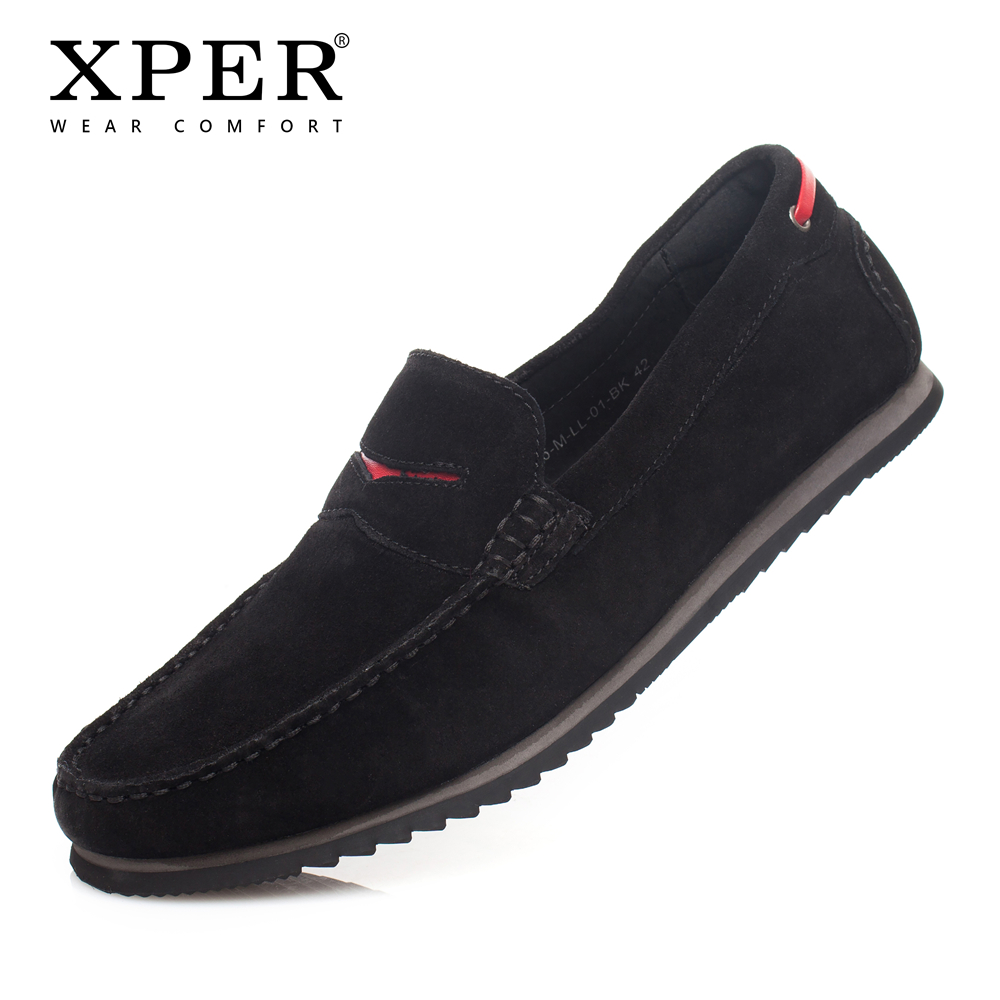XPER Brand Men Flats Moccasins Slip-on Shoes Men Casual Business Men Loafers Luxury Leather YWD86503BL цена 2017