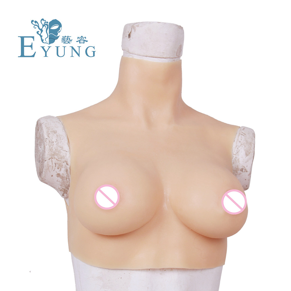 Image 5 - Eyung C/D/F Cup Simulated Boobs Crossdresser Breast Plate Silicone Artificial Breast Forms Tit Man Sissy False Chest Boob Breast-in Simulated Breast from Beauty & Health
