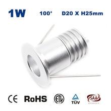 1W 15mm 3-3.4V 300mA Mini Led Downlight Lamp 80Ra 100Lm 1watt Star stair cabinet light CE RoHS 5Years Warranty