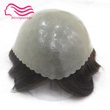 Good durable thin skin Men toupee 8x10inch , hair men wig ,hair replacement , hair system free shipping , Tsingtaowigs