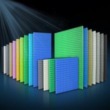 32*32 32*16 puntos placas Base clásicas bloques tamaño pequeño DIY placas de ladrillos construcción juguetes para niños regalos