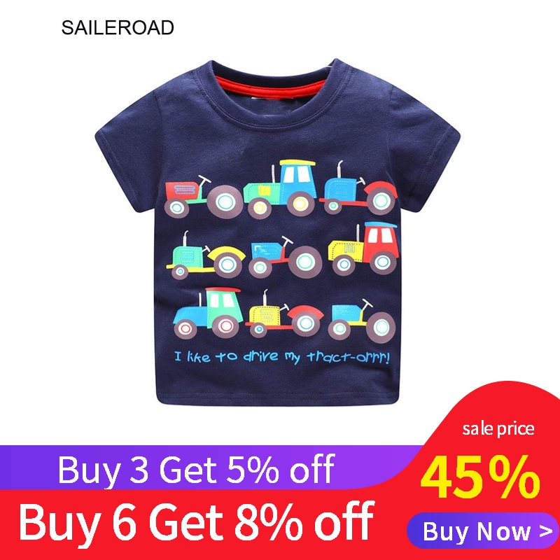 Buy 3 get 5% 6Years Baby Kids Boys Short Sleeve T Shirt For Summer Children Boys Tops Tees Shirts Cotton Tractors Print ClothesBuy 3 get 5% 6Years Baby Kids Boys Short Sleeve T Shirt For Summer Children Boys Tops Tees Shirts Cotton Tractors Print Clothes