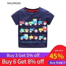 Buy 3 get 5% 6Years Baby Kids Boys Short Sleeve T Shirt For Summer Children Boys Tops Tees Shirts Cotton Tractors Print Clothes summer fashion children t shirts for boys girls t shirt kids cotton short sleeve tops tees 3d print men slim fit clothes