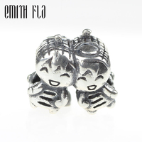 Emith Fla 925 Sterling Silver Boy And Girl Charm Beads DIY Fit For European Brand Bracelet