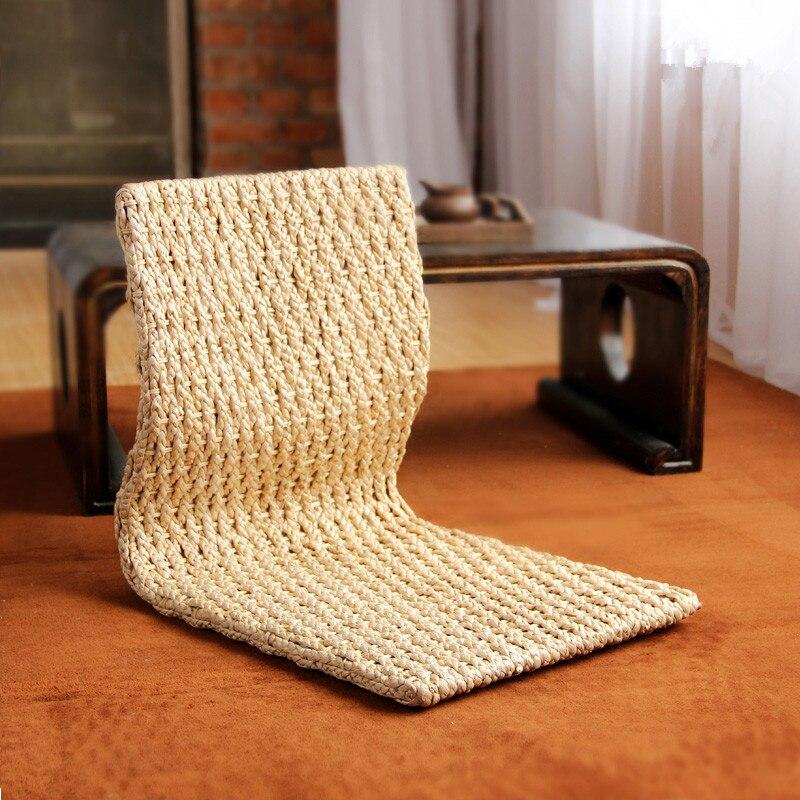 2pcs/lot Handmade Japanese Floor Legless Chair For Sitting Living Room Furniture Asian Traditional Tatami Zaisu Chair Design