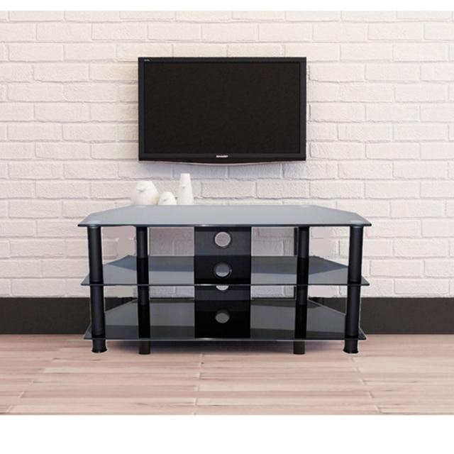Meuble Tv Moderne Noir 5mm Trempé Verre 3 Meubles étagère Du Salon