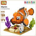 Ideas del bloque de diamante loz marlin finding nemo pez payaso pez payaso mar criaturas acuáticas animales bloques de construcción diy juguetes 9726
