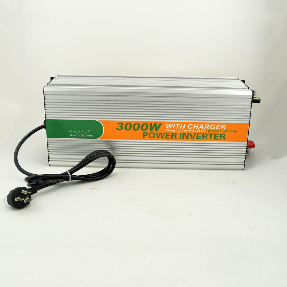3000w DC 12v to AC 220v charger modified LED sine wave inverter off grid solar inverter without battery 3kw power M3000-122G-C solar power on grid tie mini 300w inverter with mppt funciton dc 10 8 30v input to ac output no extra shipping fee