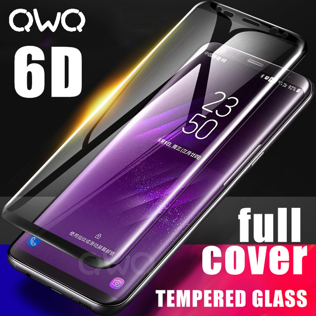 6D Full Curved Tempered Glass For Samsung Galaxy S9 S8 Plus Note 8 9 5D Screen Protector For Samsung A6 A8 2018 Protective Film